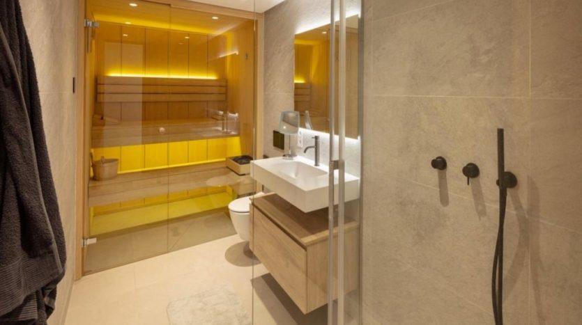 Bathroom with Sauna